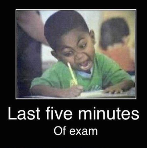 Posledních pět minut písemky