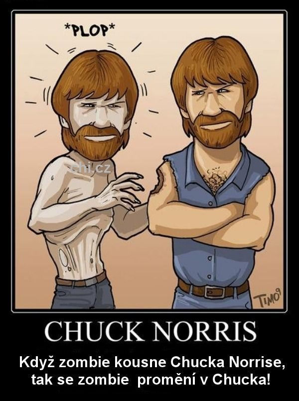 Chuck Norris a zombie