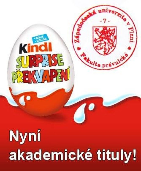 Limitovaná edice Kinder Surprise z univerzity v Plzni