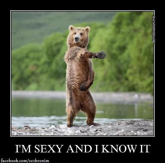 Sexy medvěd se naparuje