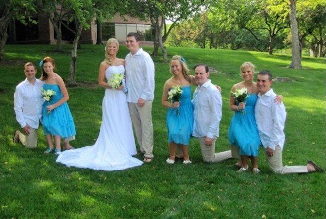 Svatební fotka liliputů