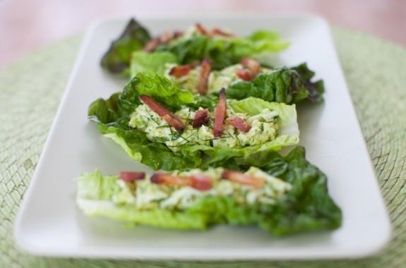 Hlávkový salát se slaninou