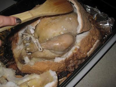 Kuře pečené v solném plášti