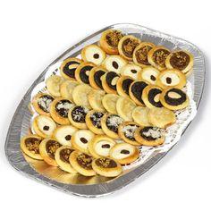 Máslové svatební koláčky, tvarohové, povidlové, makové