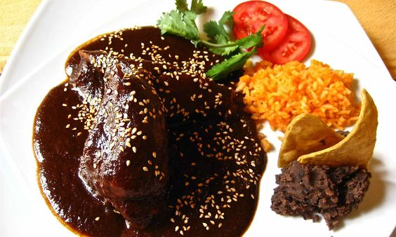 Mexické kuře s čokoládovou omáčkou