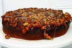Ořechový dort s karamelem