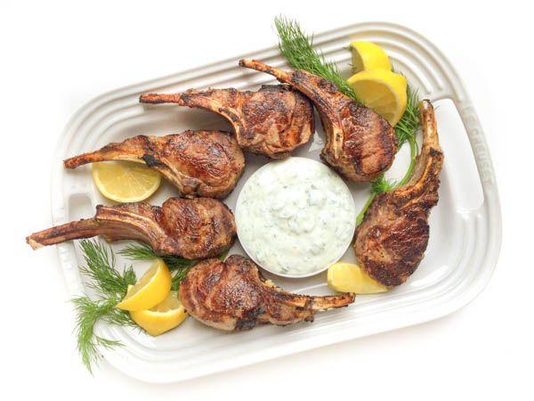 Řecké jehněčí na citronu s marinádou na grilu