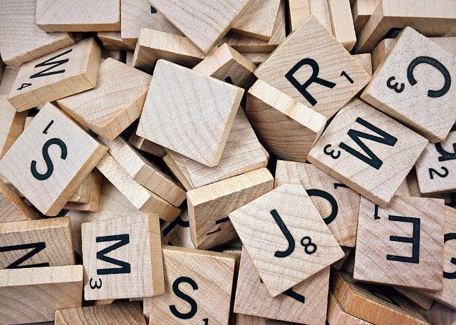 Scrabble, seznam všech písmen pro hru Scrabble
