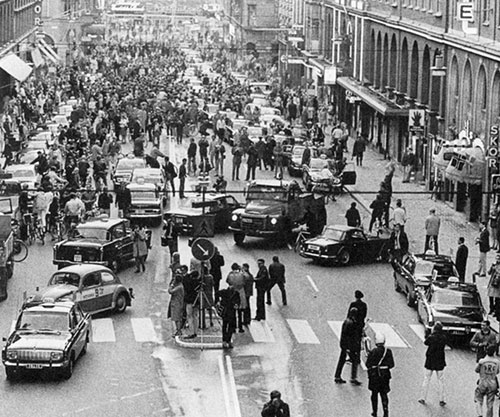 Dagen H, změna jízdních pruhů ve Švédsku