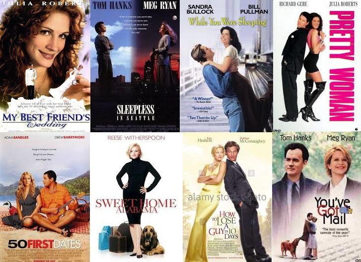 Romantické komedie, seznam nejromantičtějších komedií