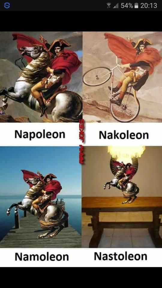 Napoleon na kole i na stole